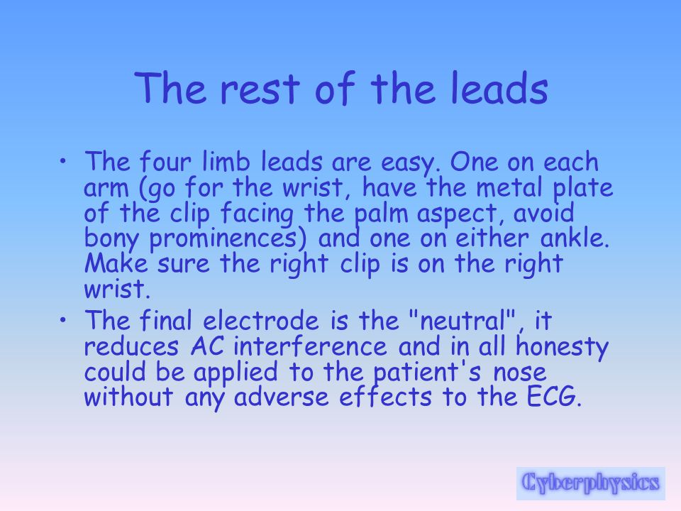 The rest of the leads
