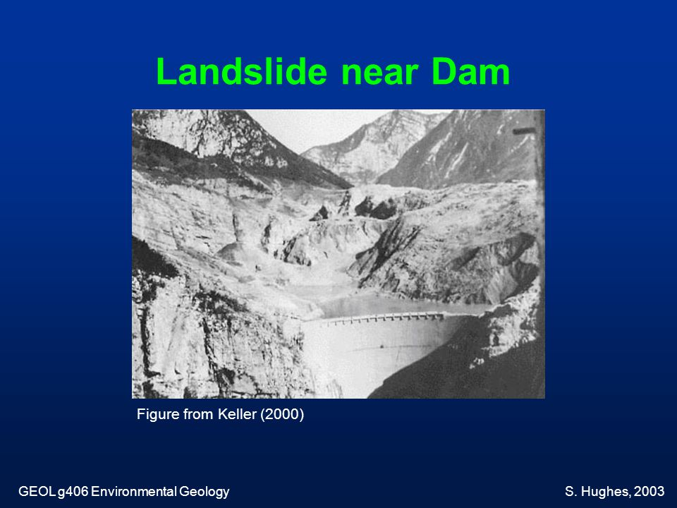Landslide near Dam Figure from Keller (2000)