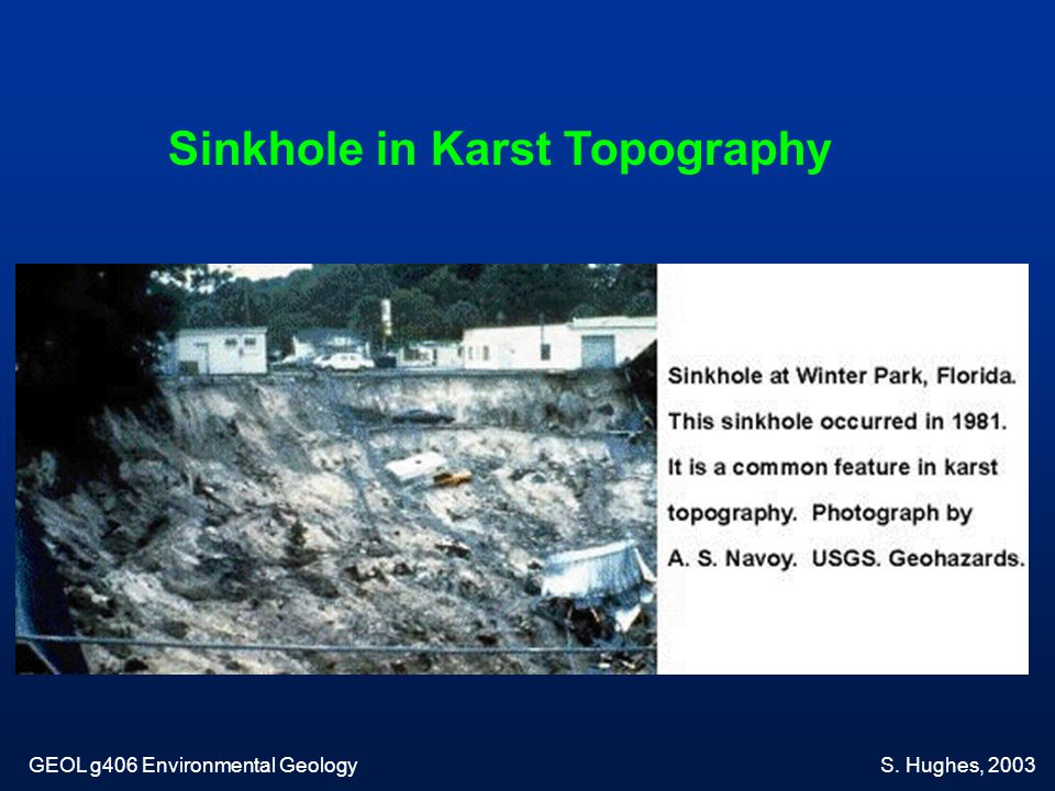 Sinkhole in Karst Topography