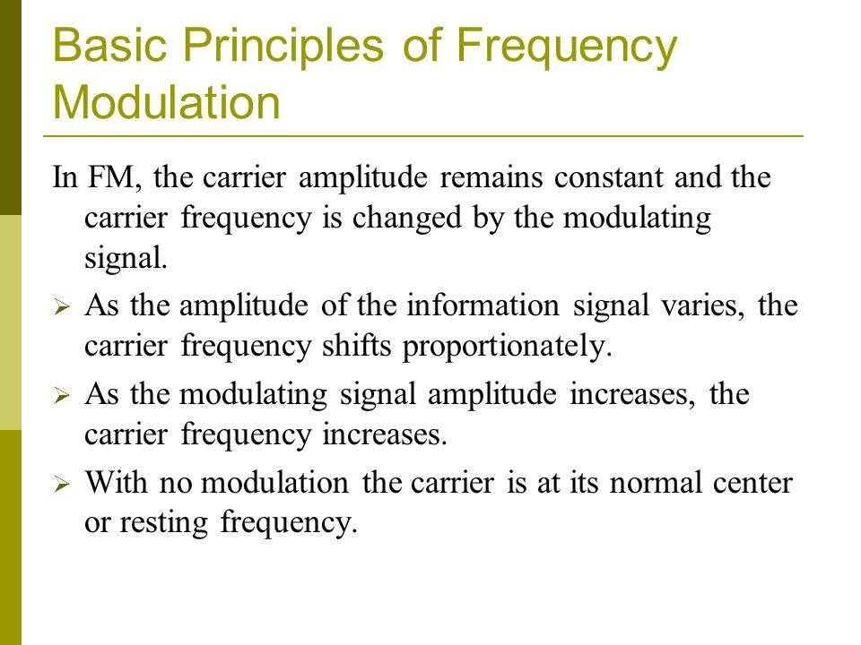 Basic Principles of Frequency Modulation