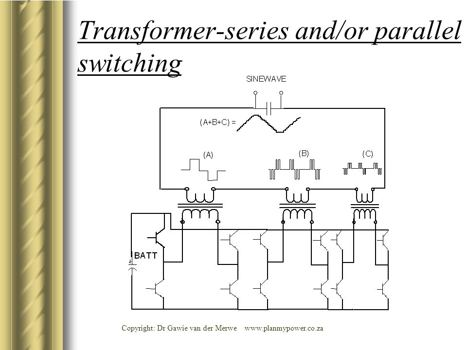 Transformer-series and/or parallel switching