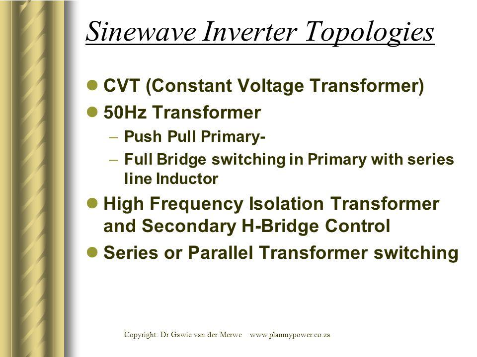 Sinewave Inverter Topologies
