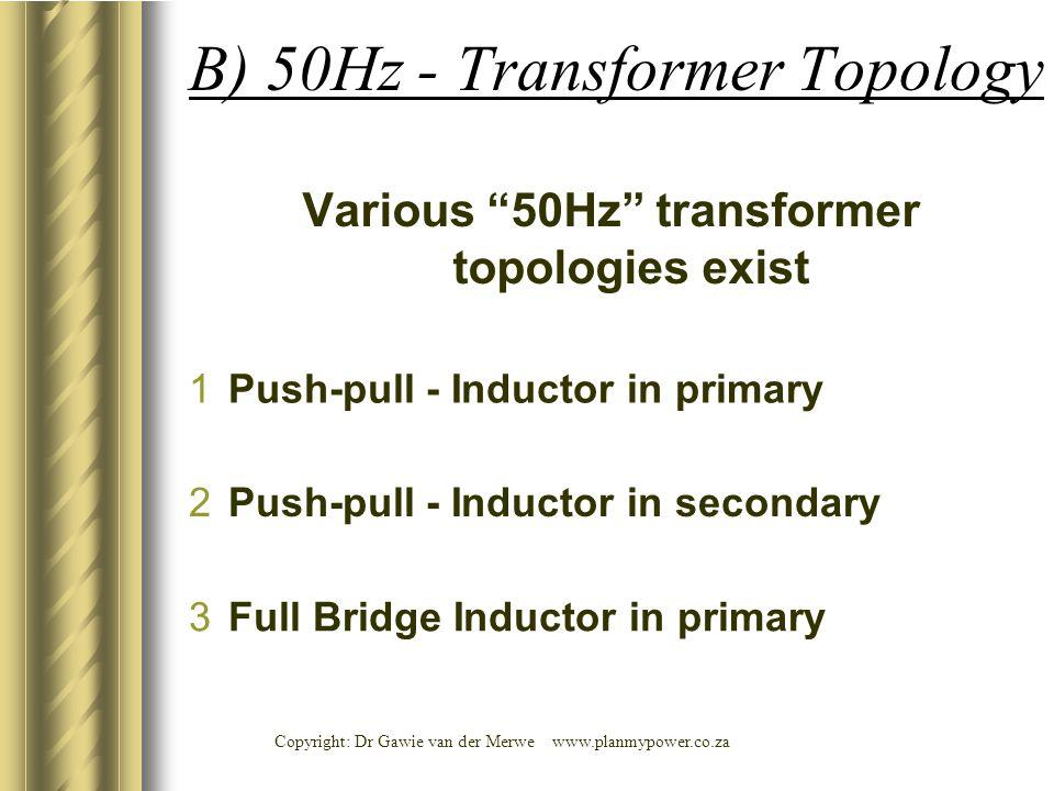 B) 50Hz - Transformer Topology