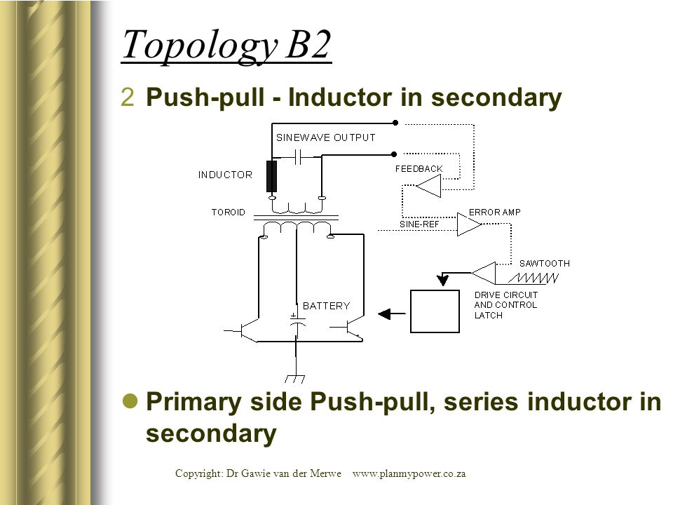 Topology B2 Push-pull - Inductor in secondary