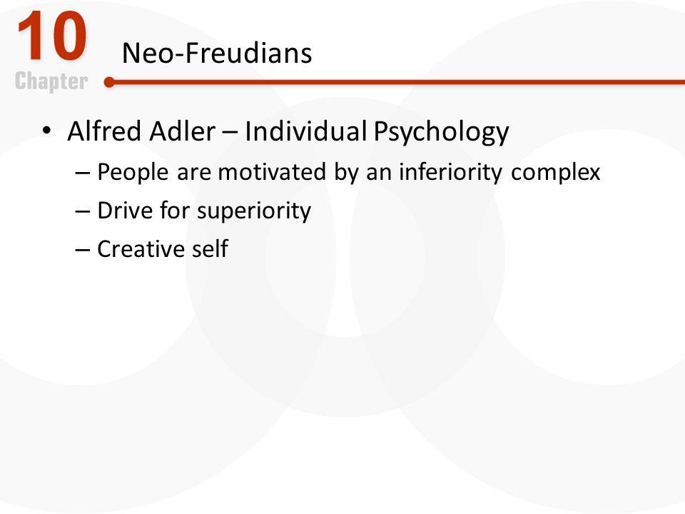 Neo-Freudians Alfred Adler – Individual Psychology