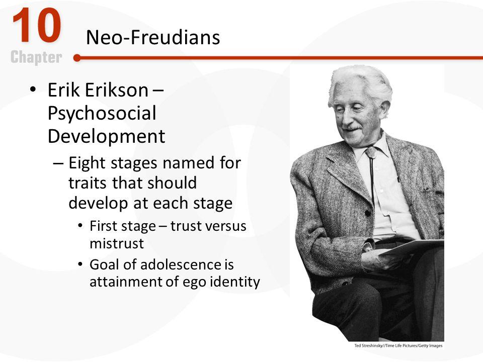 Neo-Freudians Erik Erikson – Psychosocial Development