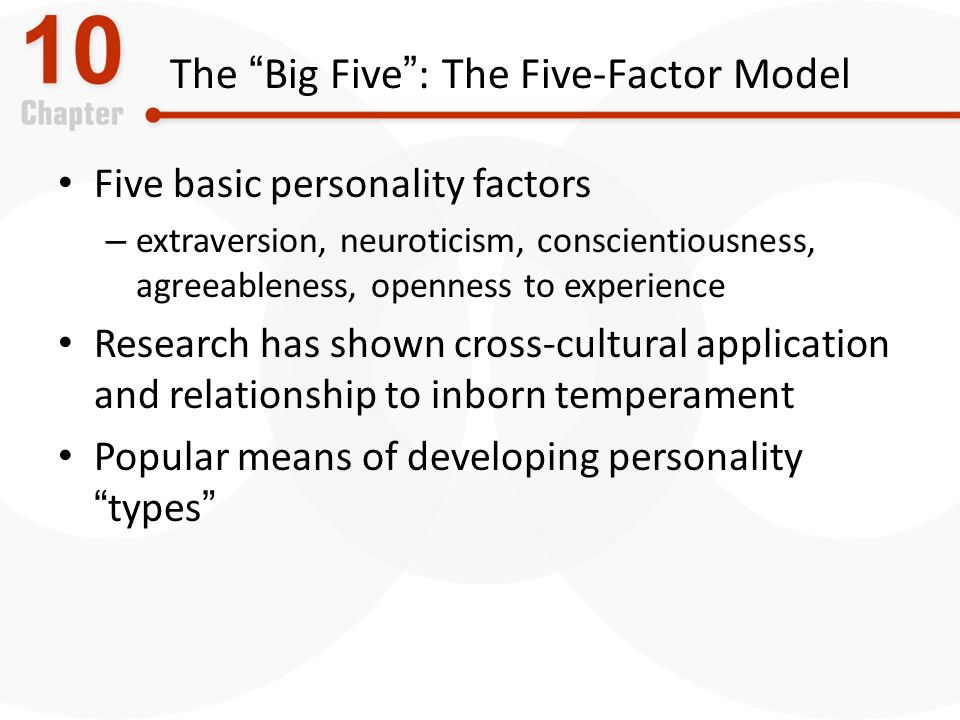 The Big Five : The Five-Factor Model