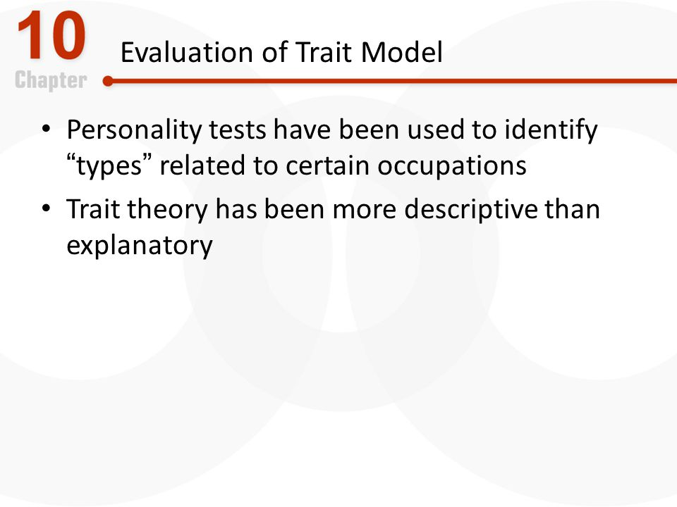 Evaluation of Trait Model