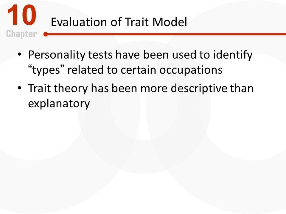 Evaluation of Trait Model
