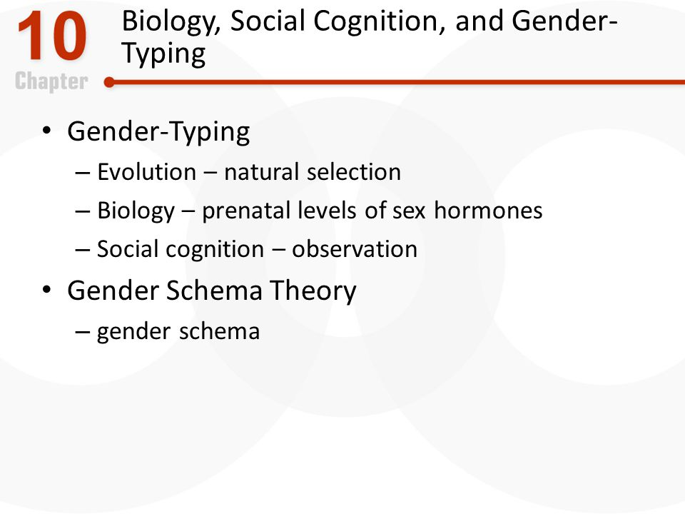 Biology, Social Cognition, and Gender-Typing