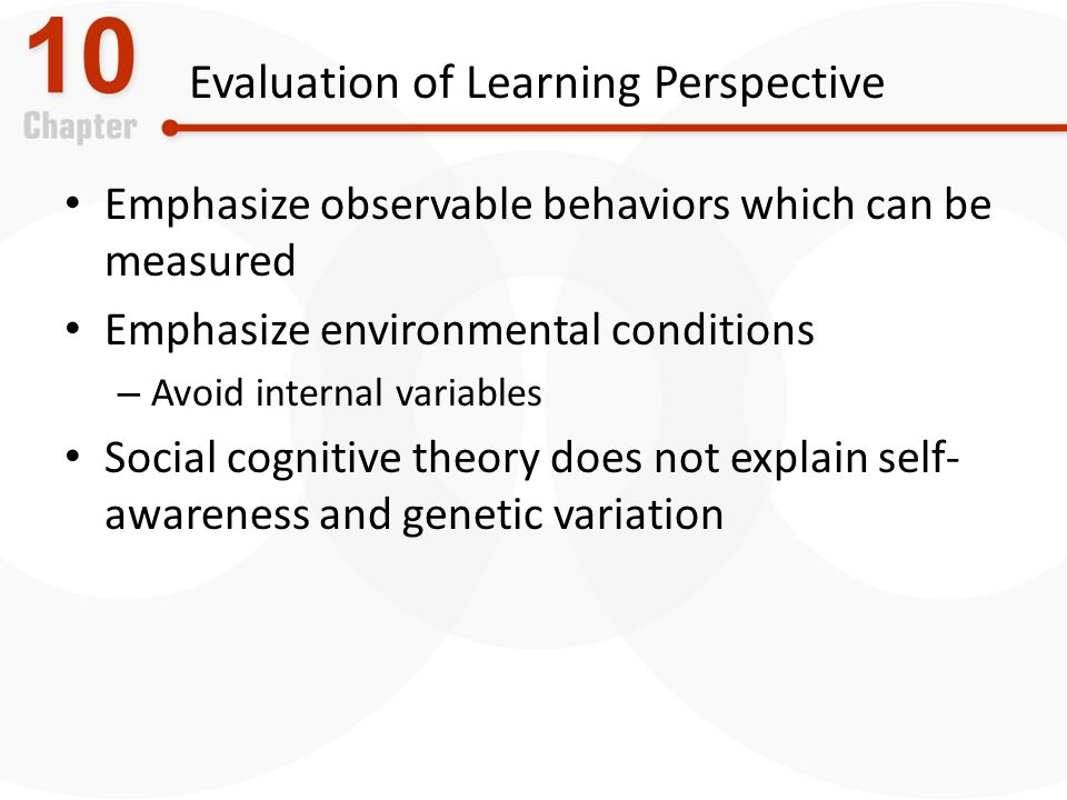 Evaluation of Learning Perspective