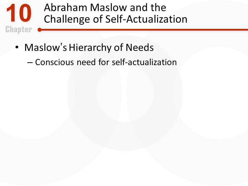 Abraham Maslow and the Challenge of Self-Actualization