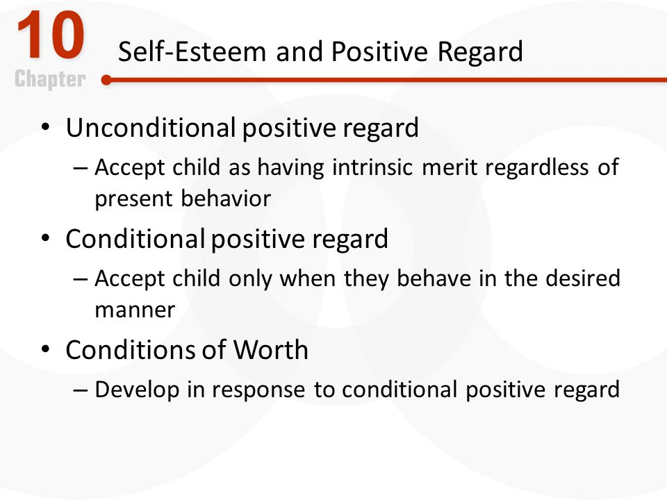 Self-Esteem and Positive Regard