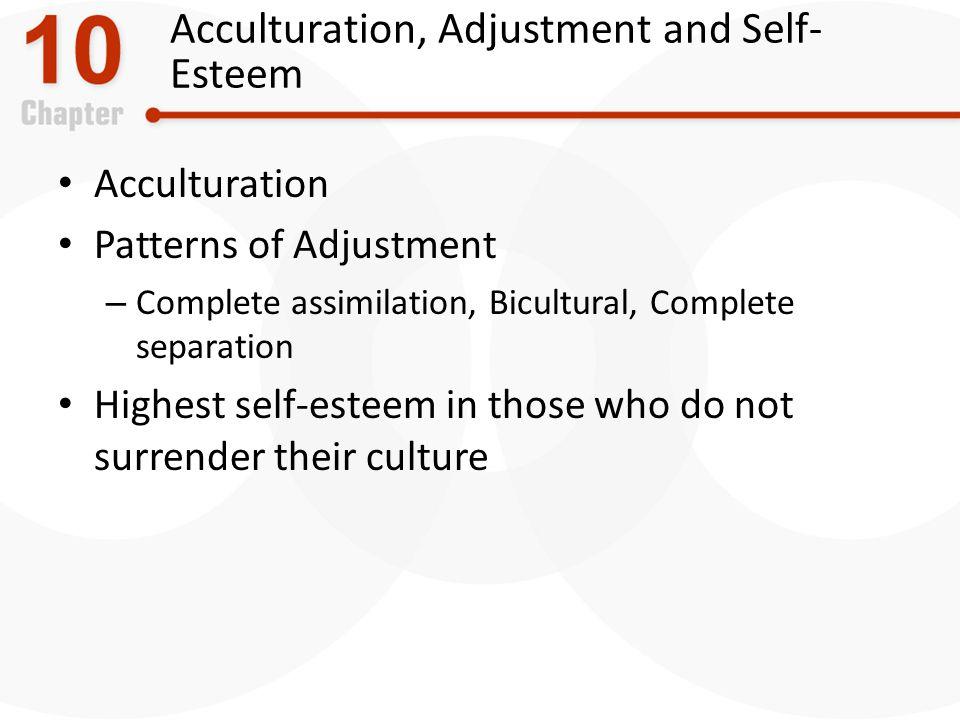 Acculturation, Adjustment and Self-Esteem