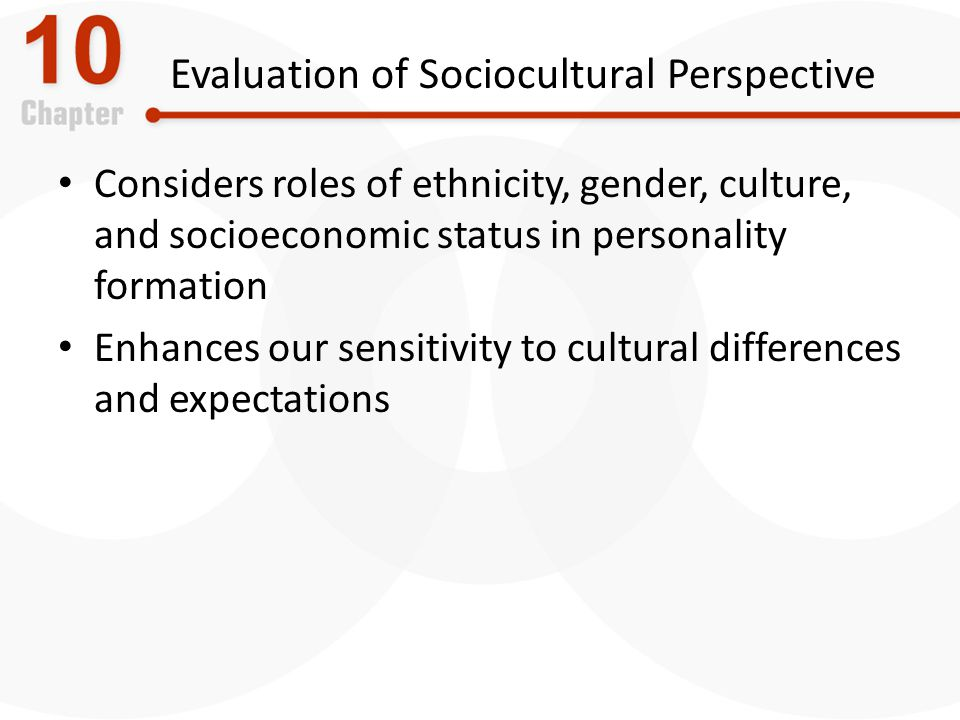 Evaluation of Sociocultural Perspective