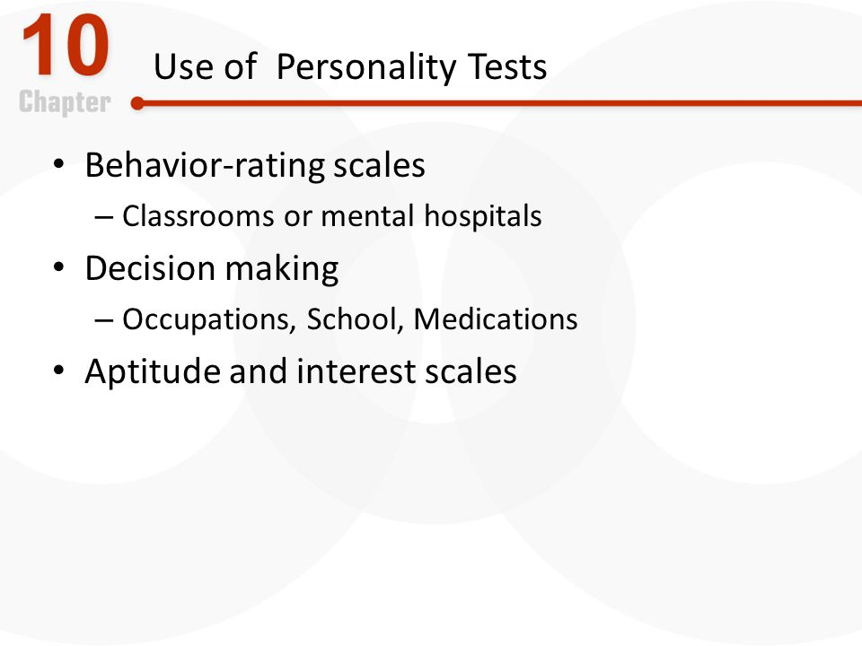 Use of Personality Tests