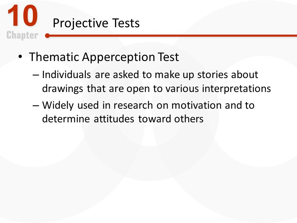 Projective Tests Thematic Apperception Test