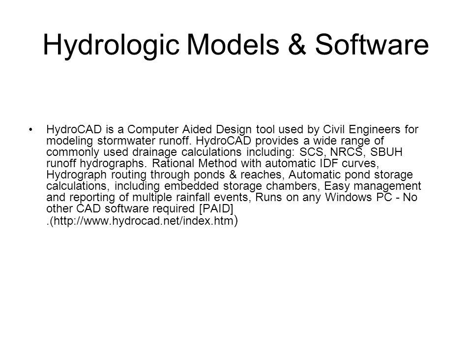 Hydrologic Models & Software