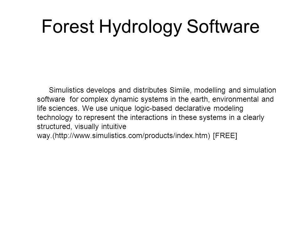 Forest Hydrology Software