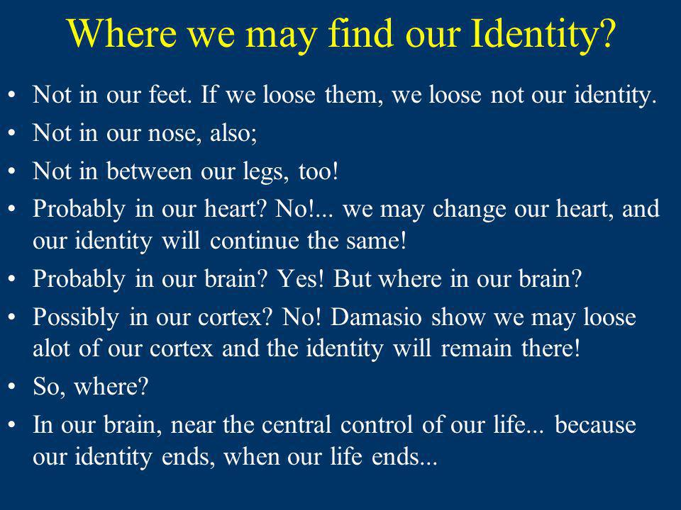 Where we may find our Identity
