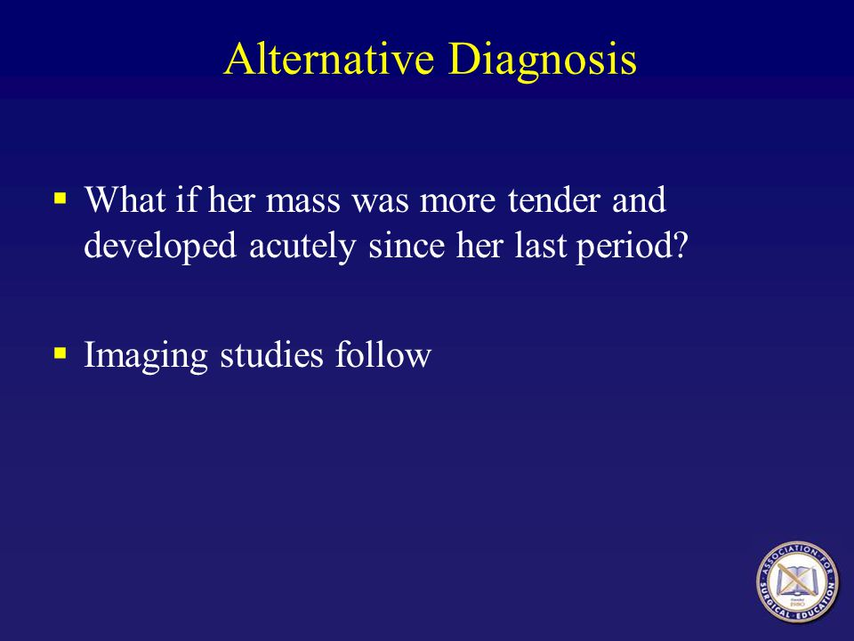 Alternative Diagnosis