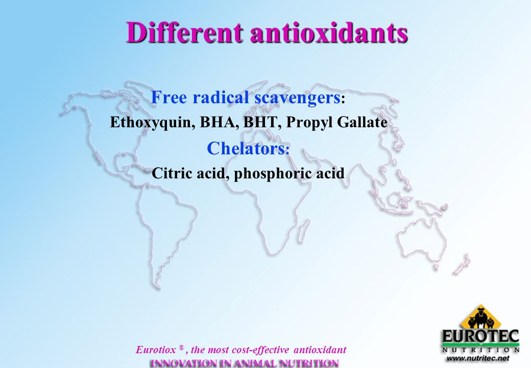 Different antioxidants
