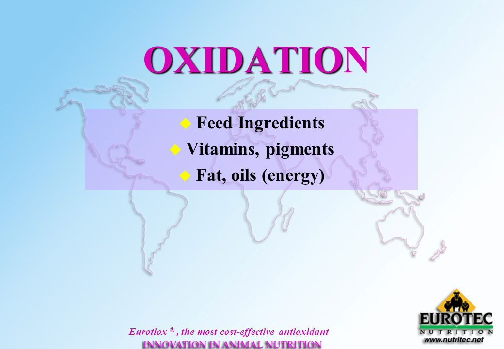 Feed Ingredients Vitamins, pigments Fat, oils (energy)
