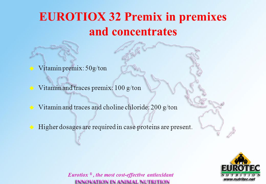 EUROTIOX 32 Premix in premixes and concentrates