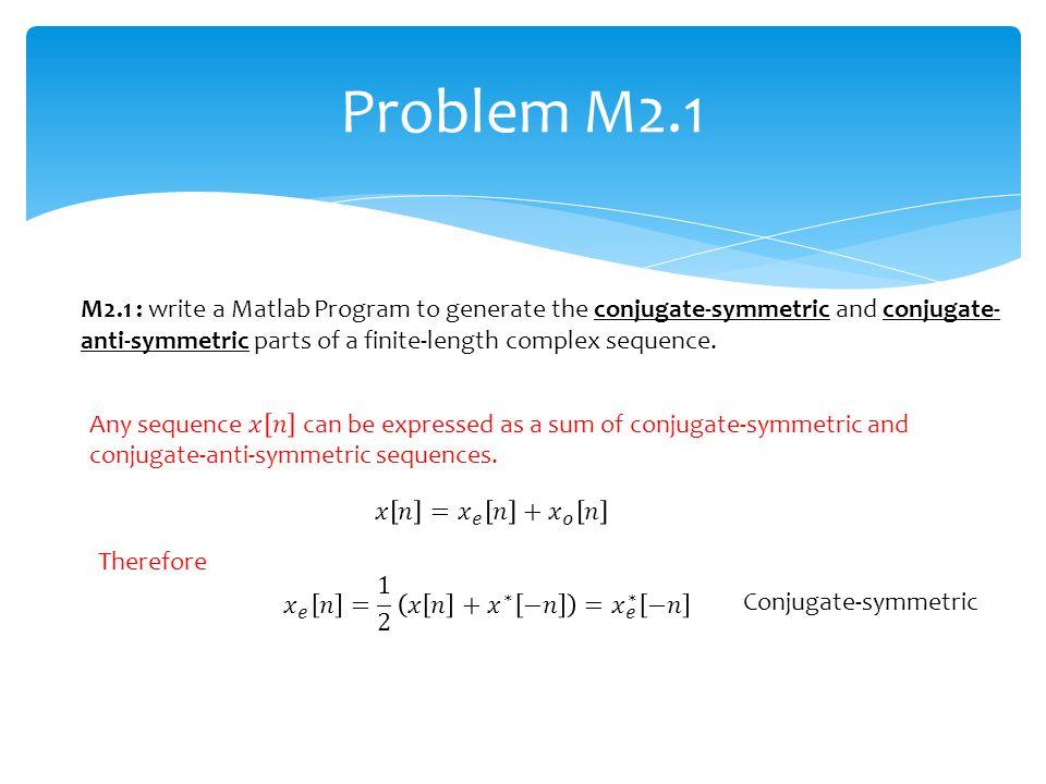 Problem M2.1