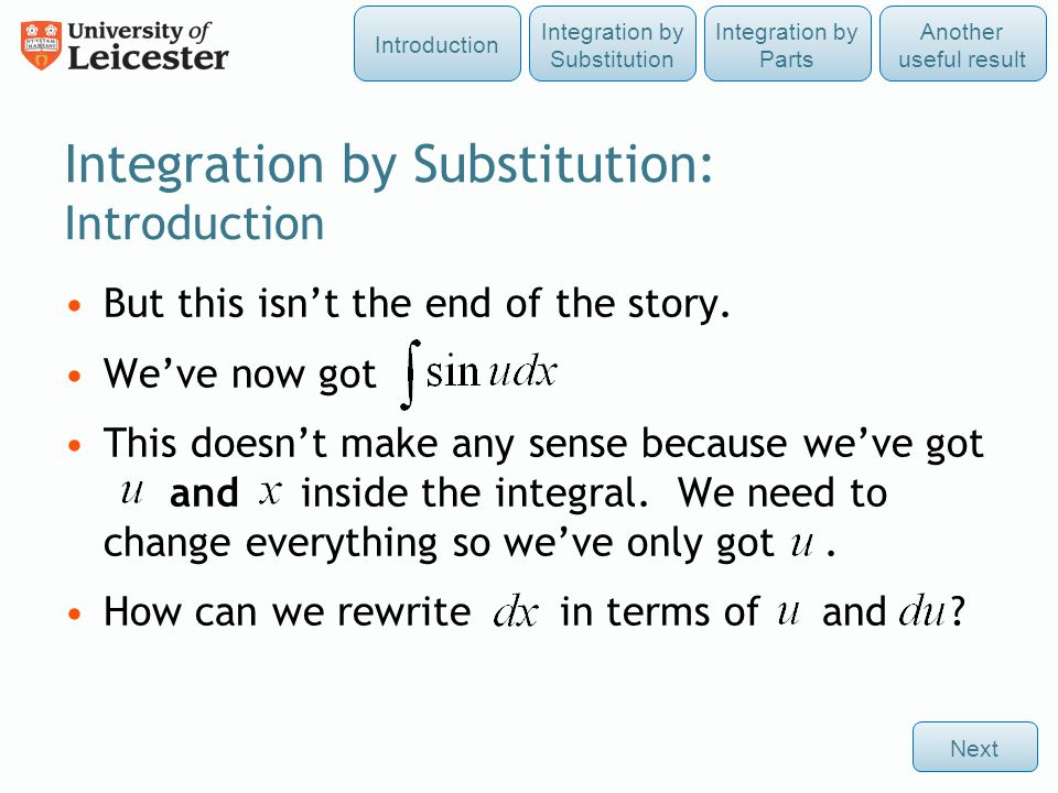 Integration by Substitution: Introduction