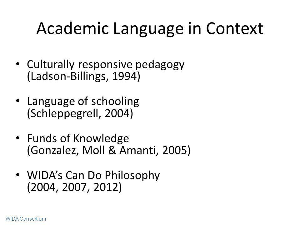Academic Language in Context