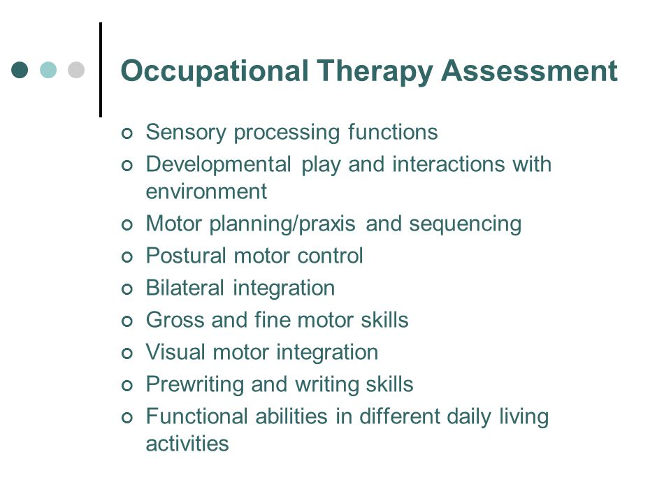 Occupational Therapy Assessment