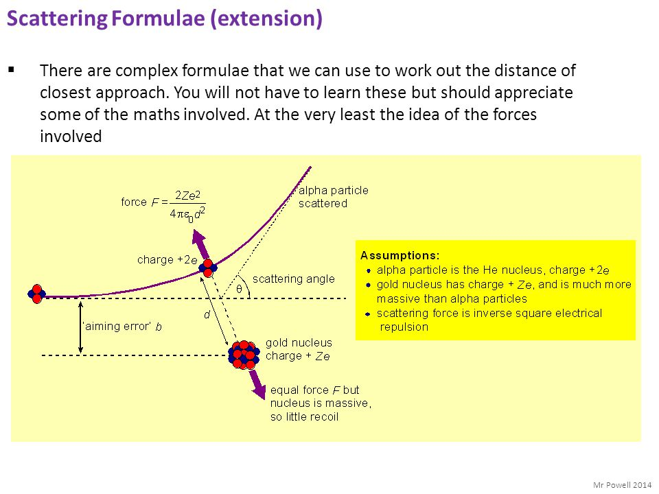 Scattering Formulae (extension)