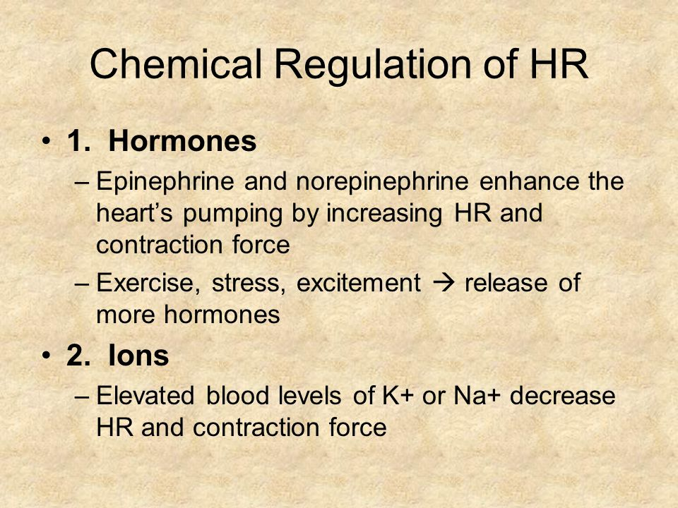Chemical Regulation of HR
