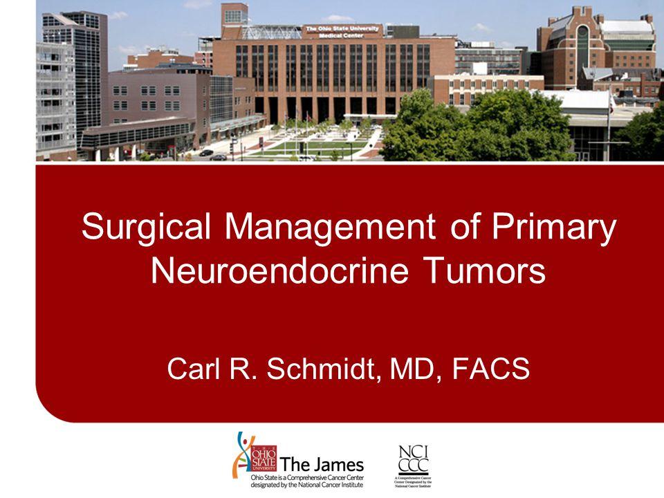 Surgical Management of Primary Neuroendocrine Tumors