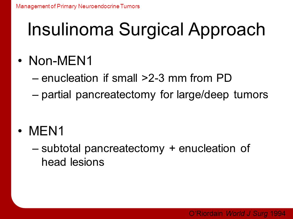 Insulinoma Surgical Approach