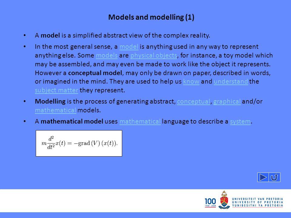 Models and modelling (1)