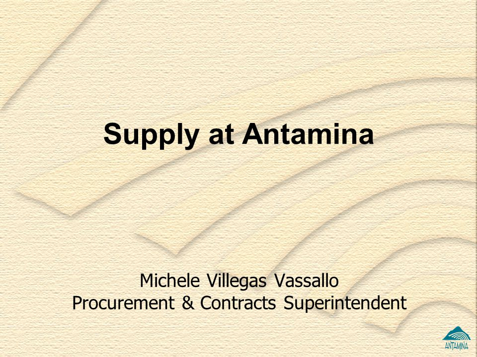 Michele Villegas Vassallo Procurement & Contracts Superintendent