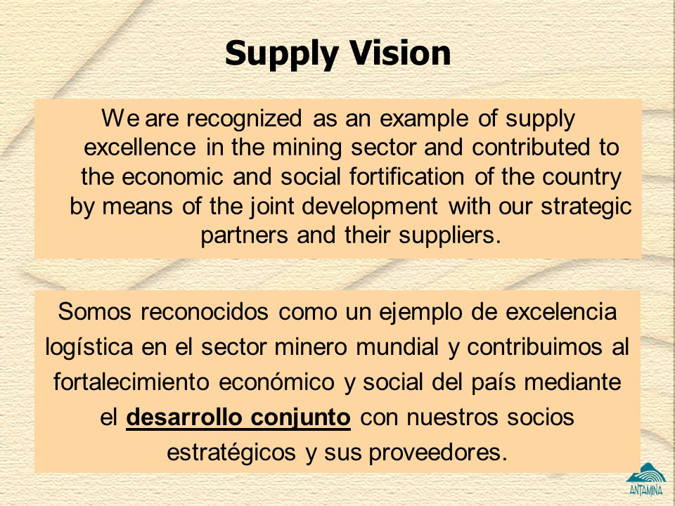 Supply Vision
