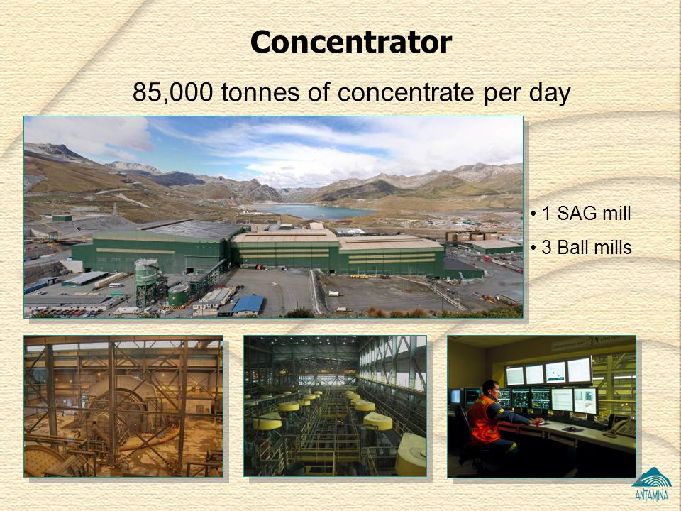 85,000 tonnes of concentrate per day