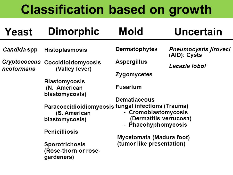 Classification based on growth