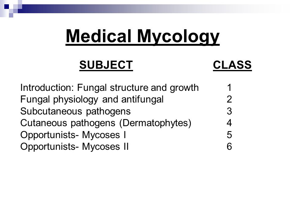 Medical Mycology Introduction: Fungal structure and growth 1