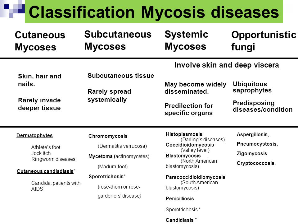 Classification Mycosis diseases