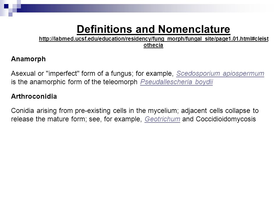 Definitions and Nomenclature http://labmed. ucsf