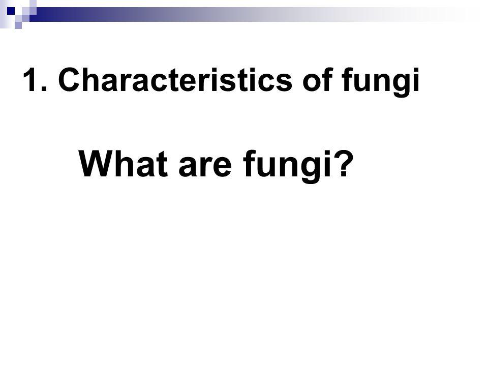 1. Characteristics of fungi
