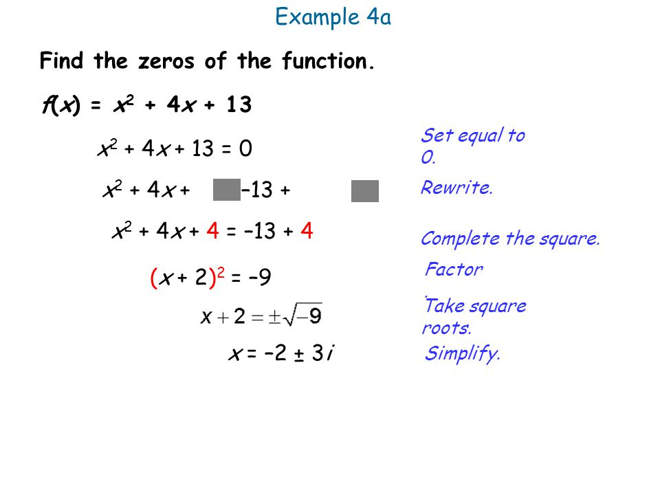 Find the zeros of the function.