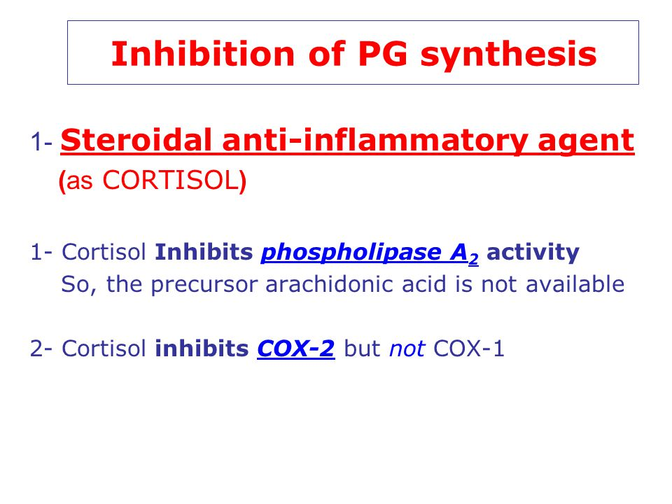 Inhibition of PG synthesis
