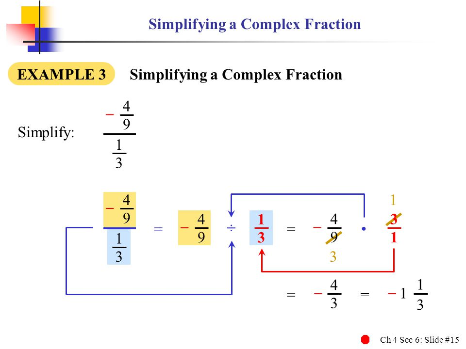 Simplifying a Complex Fraction