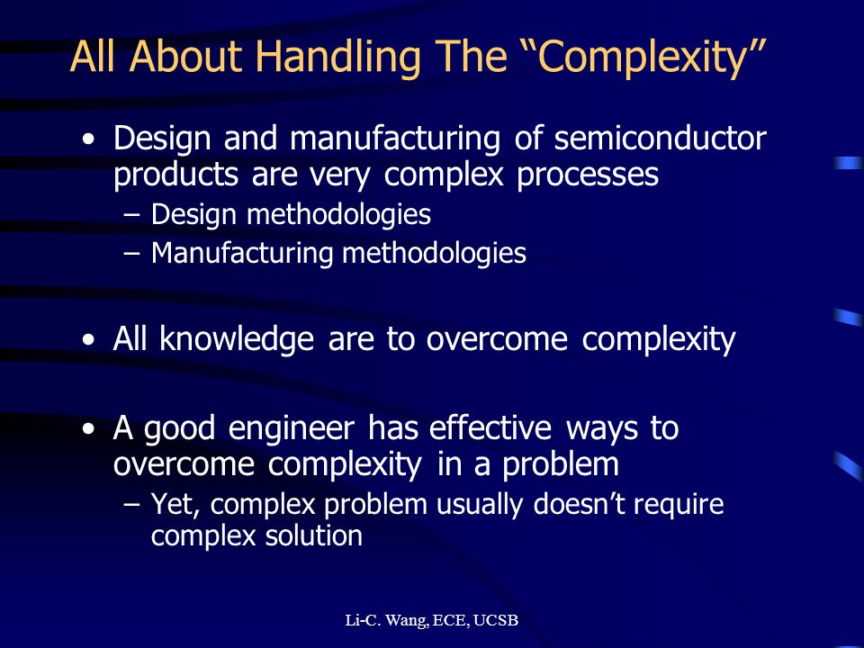 All About Handling The Complexity