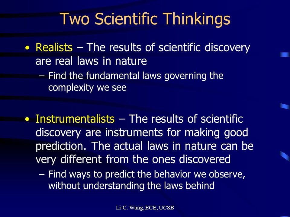 Two Scientific Thinkings